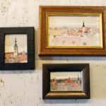 石原清、タリンの水彩画、ミニ額もあります。