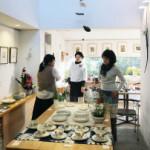 今日も盛会、中谷青三郎陶展。