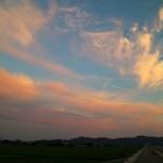 夕景が綺麗に見えるようになってきた。