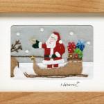 恒次弘美さんの「キルト・サンタ額」素敵です。