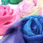 松島千紗さんのスカーフ、綺麗!