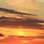 田園ギャラリー名物のきれいな夕陽です。